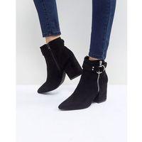 audra black heeled ankle boots - black, Raid