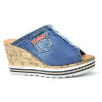 Klapki Lanqier 44C0243 jeans, kolor niebieski