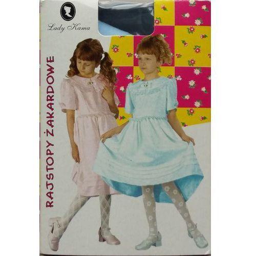 Rajstopy dziewczęce żakardowe Lady Kama 24h 128-134, błękitny. Lady Kama, 104-110, 116-122, 122-128, 128-134, 134-140, 92-98