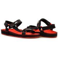 Sandały 07-0090-035 czarny/ czerwony lico marki Nik