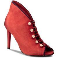 Szpilki CARINII - B3928 H55-H40-000-B16, kolor czerwony