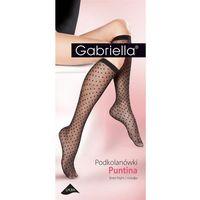 Gabriella podkolanówki 508 puntina nero, kolor czarny