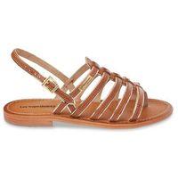 Skórzane sandały-japonki Herbier
