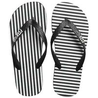 Japonki - jail break flip flop black/white (018) rozmiar: l, Fox