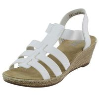 Sandały Riekier 62420 Białe, kolor biały