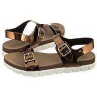 Sandały Tommy Hilfiger Slide Sandal 3Z FW0FW00634 045/Bronze (TH7-a), kolor brązowy