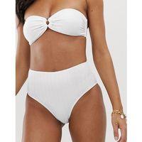 texture high waist bikini bottoms - white, Vero moda, XS-XL
