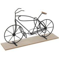 Emako Metalowy stojak rower na 2 butelki, wino