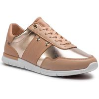 Sneakersy TOMMY HILFIGER - Tommy Essential Leather Sneaker FW0FW03688 Peach Rose 653, kolor beżowy