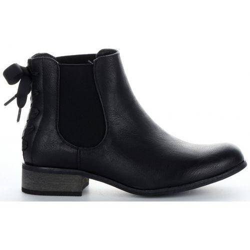 Klasyczne botki damskie firmy czarne (kolory) marki Lady glory