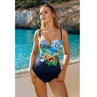 Kostium kąpielowy tankini Aquarilla 288 Enna granatowy, kolor niebieski