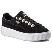 Sneakersy - suede platform bling wn's 366688 01 puma black/puma black marki Puma