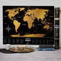 Mygiftdna Mapa zdrapka świat travel map™ black world - mapa zdrapka świat travel map™ black world