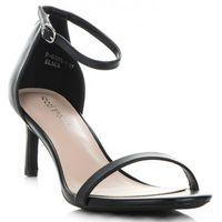 Eleganckie sandały damskie na szpilce firmy czarne (kolory) marki Ideal shoes