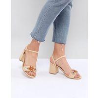 natural embellished mid heel sandals - beige, Glamorous