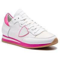 Sneakersy - tropez trld nv03 mondial neon blanc fucsia marki Philippe model