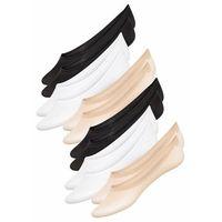 """Skarpety stopki """"super-stretch"""" (6 par) cielisty + czarny + biały, Bonprix"""