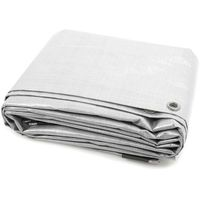 Uniwersalna plandeka ochronna, biała, 4x8 m, pe 140 g/m² marki Jarolift