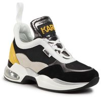 Sneakersy KARL LAGERFELD - KL61739 Dk Gry Lth/Txt W/Yellow, kolor wielokolorowy