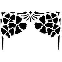 Szabloneria Szablon malarski wzór na ścianę flora 55 - rama