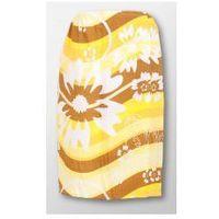 Produkcja własna Pareo ręcznik bawełniany damski biały - wzór kwiaty