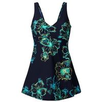 Sukienka kąpielowa wyszczuplająca bonprix ciemnoniebiesko-turkusowy, sukienka