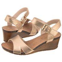 Sandały Sergio Leone Złote 70124 (SL178-a), 70124 Złoty Beż