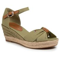 Espadryle - basic opened toe mid vedge fw0fw04785 faded olive l9f, Tommy hilfiger, 35-41