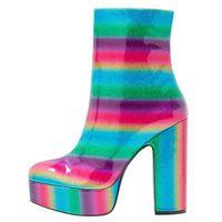 Shellys London ISSA Botki na obcasie rainbow, na