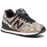 Sneakersy NEW BALANCE - WL574SNA Czarny Kolorowy, kolor wielokolorowy