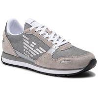 Sneakersy - x3x058 xl617 n822 plaster/silver, Emporio armani, 35-41