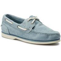 Mokasyny TIMBERLAND - Boat Shoe Classic TB0A1V41E42 Light Blue Suede