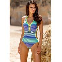 Lorin Jednoczęściowy strój kąpielowy kostium jednoczęściowy model l4142/8 yellow/blue -