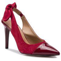 Sandały SAGAN - 3578 Czerwony Welur/Czerwony Lakier