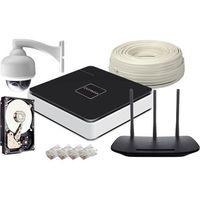 Overmax Zestaw monitoringu 1x kamera ptz 720p hd + rejestrator + 2tb + router ip wifi