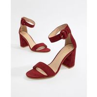 genna burgundy block heeled sandals - red, Raid