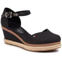 Espadryle - basic close toe mid wedge fw0fw04787 black bds marki Tommy hilfiger