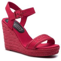 Espadryle - colorful tommy wedge sandal fw0fw04160 true red 665, Tommy hilfiger, 39-41