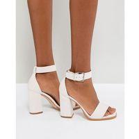 RAID Imani Pale Pink Block Heeled Sandals - Pink, kolor różowy