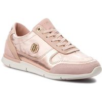 Sneakersy TOMMY HILFIGER - Camo Metallic Light Sneaker FW0FW03231 Mahogany Rose 641