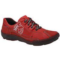 Półbuty 2-3891-102+489 czerwone damskie trekkingowe, Kacper