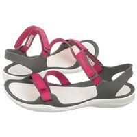 Crocs Sandały swiftwater webbing sandal paradise pink/smoke 204804-6oh (cr147-a)