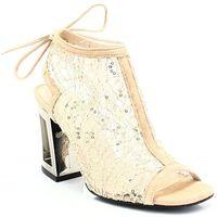 SOLO FEMME 60810 ZŁOTE - Ażurowe sandałki, kolor żółty