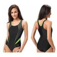strój kąpielowy damski jednoczęściowy (czarny/grafit/zielony) (gw10122/2) marki Gwinner