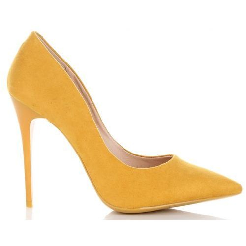 Uniwersalne szpilki damskie na każdą okazję włoskiej marki bellucci żółte (kolory) marki Belluci