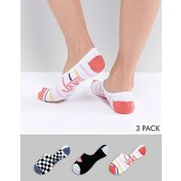 3pk stripe check socks - multi marki Vans