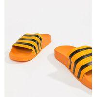 originals adilette slider sandals in orange - black, Adidas