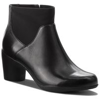 Botki - un rosa mid 261355304 black leather marki Clarks
