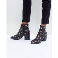 jadyn black eyelet detail heeled ankle boots - black marki Raid