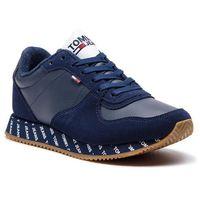 Sneakersy TOMMY JEANS - Casual Sneaker EN0EN00394 Black Iris 431